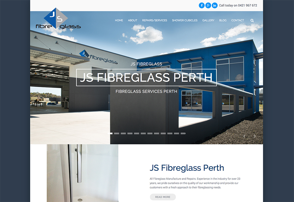 js fibreglass perth neerabup new website